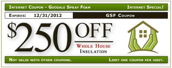 Goodale Spray Foam Internet Coupon Specials – Coupon Format